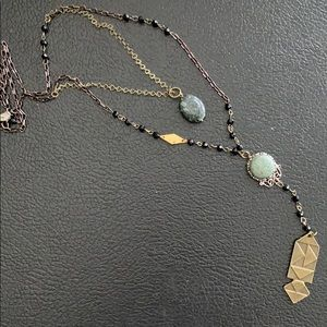 Free People Double Layer Rosary Necklace